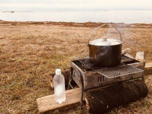 キャンプでお湯を沸かしたら…