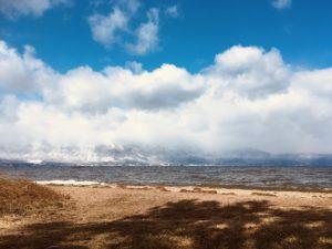 琵琶湖雪景