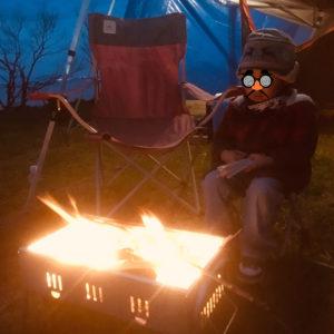 普通のBBQコンロを焚き火台に!