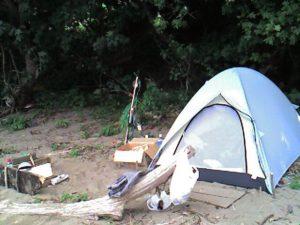 昔の日本海ソロキャンプ