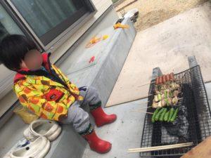 お庭で遊ぼう!庭BBQに飽きたら焼き鳥屋さんごっこ!