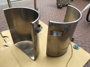 焚火台を自作!ドラム缶でも一斗缶でもない、ステンレス寸胴鍋ベースの焚き火台!