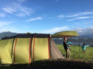 トンネル2ルームテント ファミリーキャンプに最適なサイズ