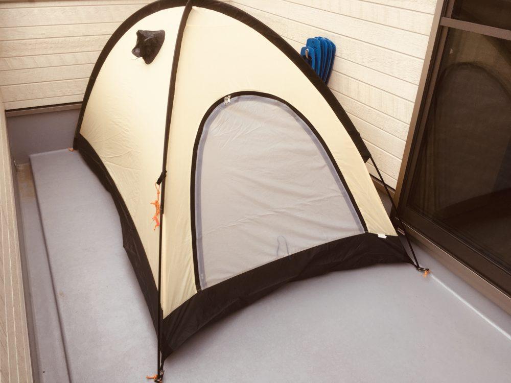 ライペンのタフライズをベランダキャンプに使用。