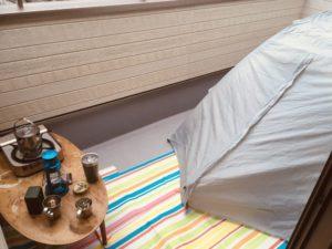 ベランピングならぬベランダキャンプ