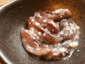ホタルイカ塩麹漬け 塩麹をかけるだけで一晩でできる