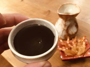 干しエビと日本酒