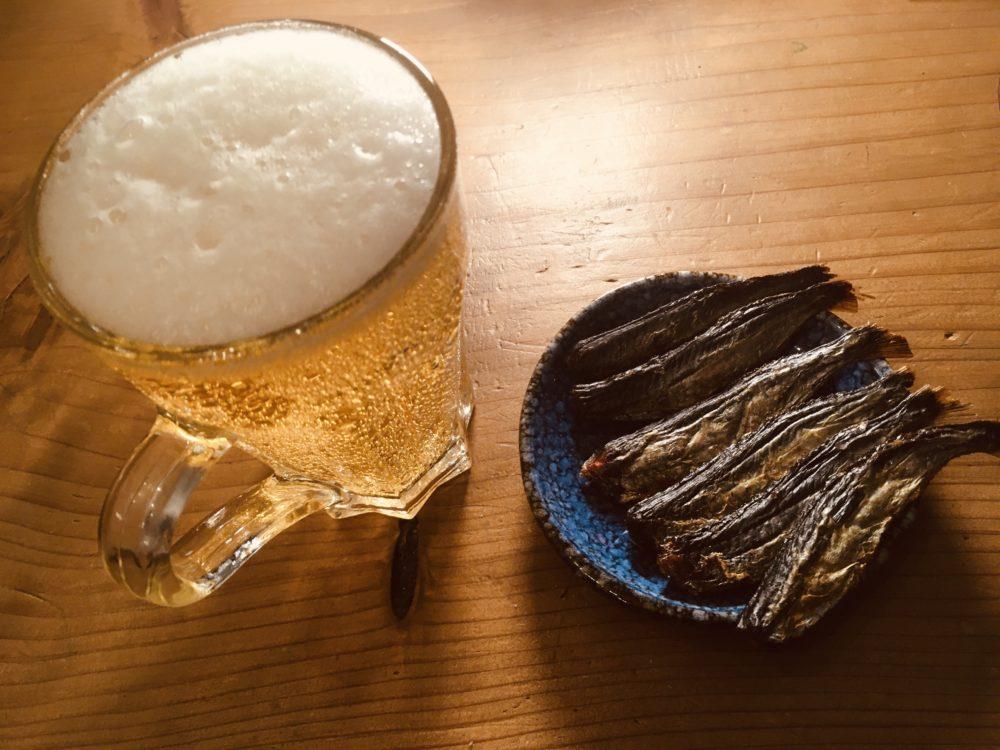 焼きあごとビールは相性バツグン!