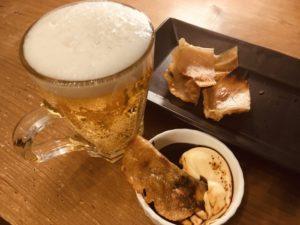 楽天で最安値のエイヒレとビール