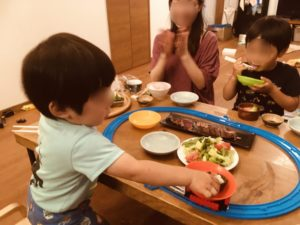 プラレール回転寿司