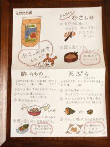 ホヤの食べ方の説明書