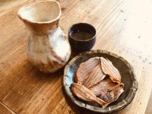 干しホヤと日本酒
