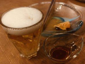 お刺身ホヤとビール