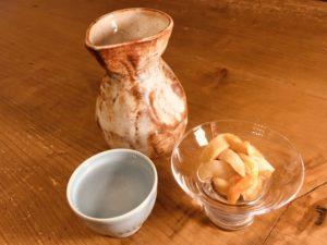 ホヤ塩辛と日本酒は最高に合う