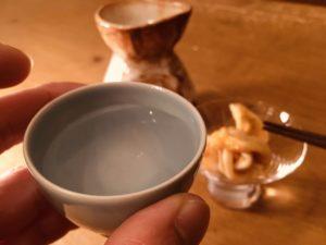 ホヤ塩辛と日本酒